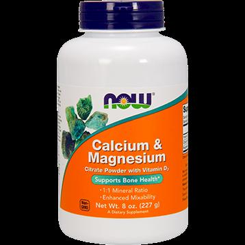 NOW Calcium amp Magnesium Powder 8 oz N1243