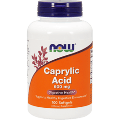 NOW Caprylic Acid 600 mg 100 gels N33475