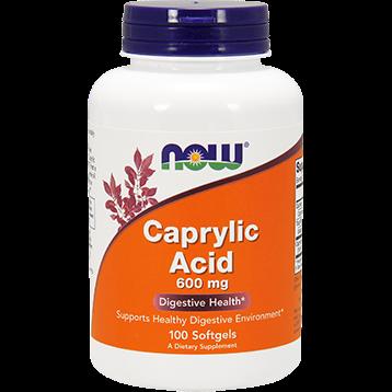 NOW Caprylic Acid 600 mg 100 gels N33475