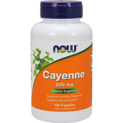 NOW Cayenne 500 mg 100 caps N4625