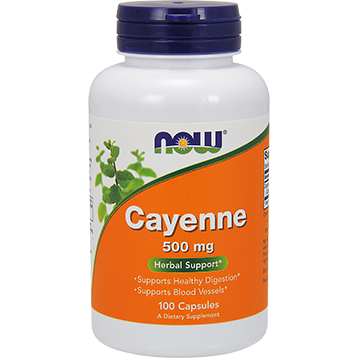NOW Cayenne 500 mg 100 caps N4625