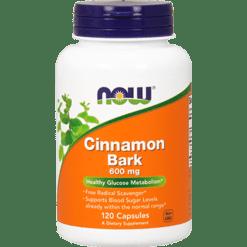 NOW Cinnamon Bark 600 mg 120 caps N4636