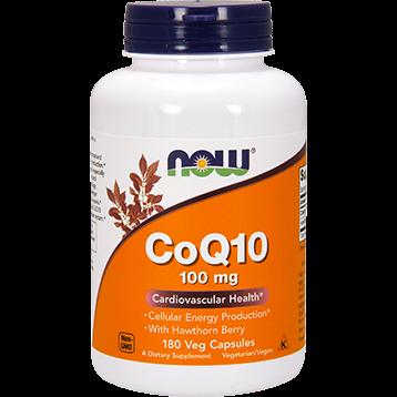 NOW CoQ10 100 mg 180 vegetarian capsules N3213