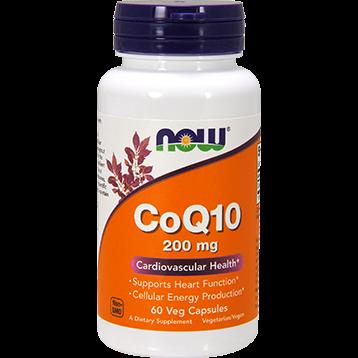 NOW CoQ10 200 mg 60 vegcaps N3176