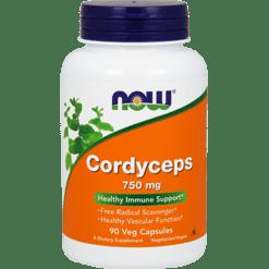 NOW Cordyceps 750 mg 90 vegcaps N3005