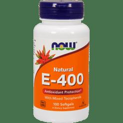 NOW E 400 Mixed Tocopherols 100 softgels N0892