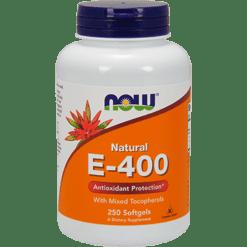 NOW E 400 Mixed Tocopherols 250 softgels N0894