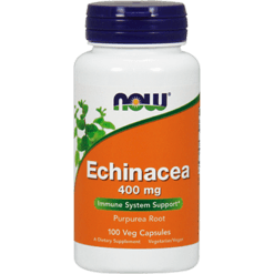 NOW Echinacea Root 400 mg 100 caps N4660