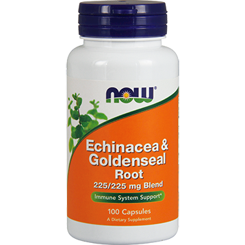 NOW Echinacea amp Goldenseal Root 100 caps N4665