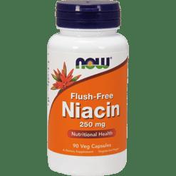 NOW Flush Free Niacin 250 mg 90 vcaps N0483