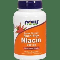 NOW Flush Free Niacin 500 mg 90 vegcaps N04987