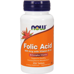 NOW Folic Acid 800 mcg 250 tablets N0476