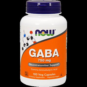 NOW GABA 750 mg 100 vcaps N0089