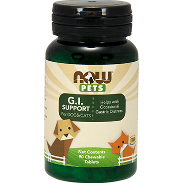 NOW GI Support for Dogs amp Cats 90 chewable tablets N43054