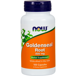 NOW Goldenseal Root 500 mg 100 caps N4692