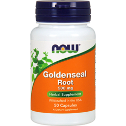 NOW Goldenseal Root 500 mg 50 capsules N4690
