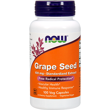 NOW Grape Seed Extract 100 mg 100 vegcaps N3248
