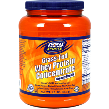 NOW Grass Fed Whey Protein Vanilla 1.2 lbs N20994
