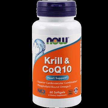 NOW Krill Oil amp CoQ10 60 softgels N71628