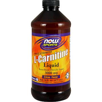 NOW Liquid L Carnitine 3000 mg 16 fl oz N0064