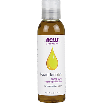 NOW Liquid Lanolin 100 Pure 4 fl oz N7730
