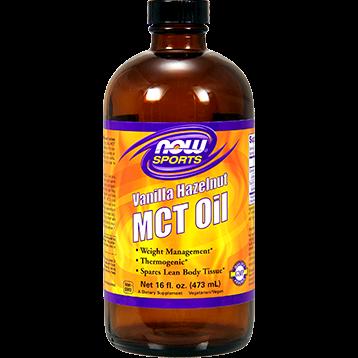 NOW MCT Oil Vanilla Hazelnut 16 fl oz N22097