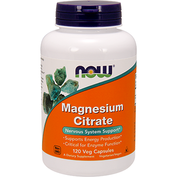 NOW Magnesium Citrate 120 vcaps N1294