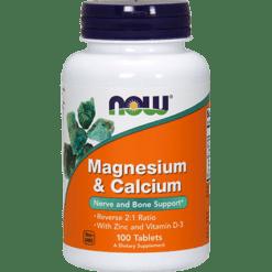 NOW Magnesium amp Calcium 21 ratio 100 tabs N1277
