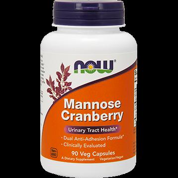 NOW Mannose Cranberry 90 vegcaps N28143