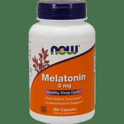NOW Melatonin 3 mg 180 caps N3257