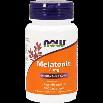 NOW Melatonin 3 mg 180 lozenges N3259