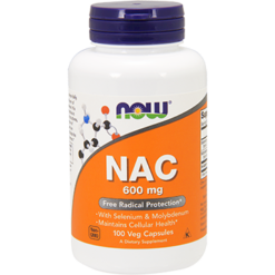 NOW NAC 600 mg 100 vcaps N0085