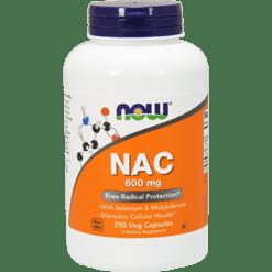 NOW NAC 600 mg 250 vcaps N0086