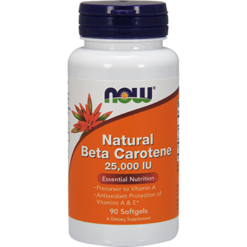 NOW Natural Beta Carotene 25000 IU 90 gels N0320