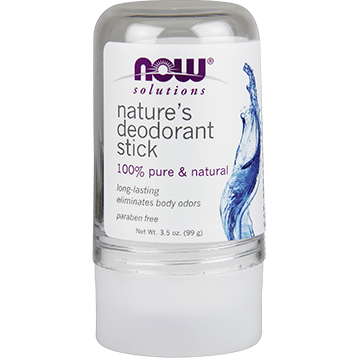 NOW Natures Deodorant Stick Stone 3.5 oz N80776