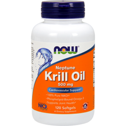NOW Neptune Krill Oil 500 mg 120 softgels N1626