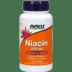 NOW Niacin 500 mg 100 tabs N0480