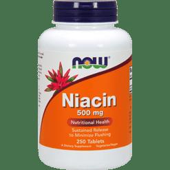 NOW Niacin 500 mg 250 tabs N0482