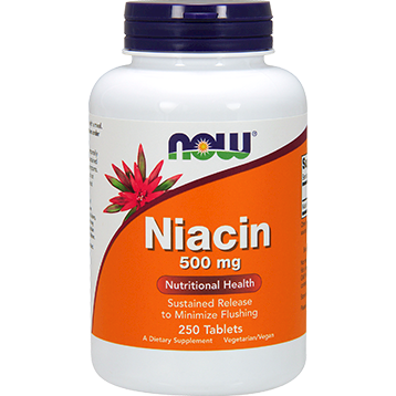 NOW Niacin 500 mg 250 tabs N0482
