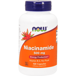 NOW Niacinamide 500 mg 100 caps N0478