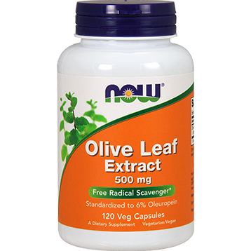 NOW Olive Leaf Extract 500 mg 120 vegcaps N4722