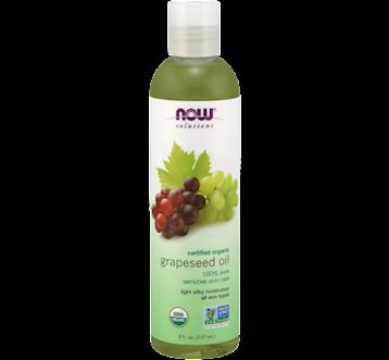 NOW Organic Grapeseed Oil 8 fl oz N77080