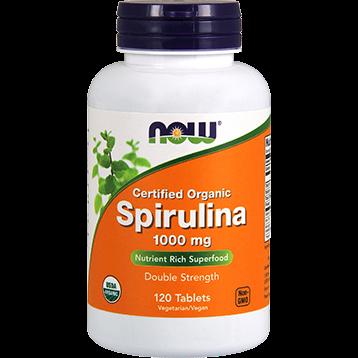 NOW Organic Spirulina 1000 mg 120 tabs N27153