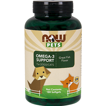 NOW Pets Omega 3 Cats amp Dogs 180 softgels N43153