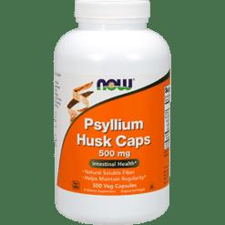 NOW Psyllium Husk Caps 500 mg 500 caps N5972