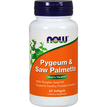 NOW Pygeum amp Saw Palmetto 60 softgels N4728