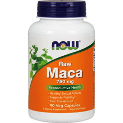 NOW Raw Maca 750 mg 90 vcaps N4777