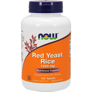 NOW Red Yeast Rice 1200 mg 120 tabs N3503