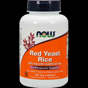 NOW Red Yeast Rice CoQ10 120 vegetarian capsules N33345