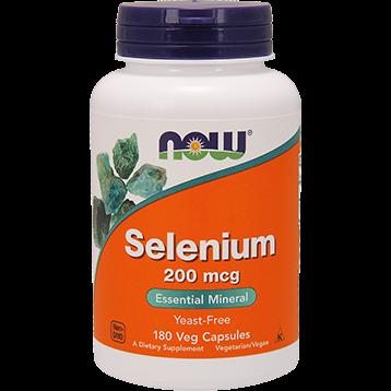 NOW Selenium Yeast Free 200 mcg 180 vcaps N1486